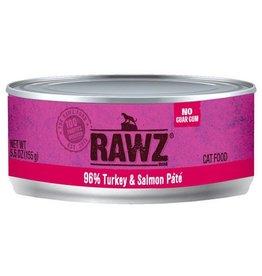 Rawz Cat Can 96% Turkey & Salmon 5.5oz