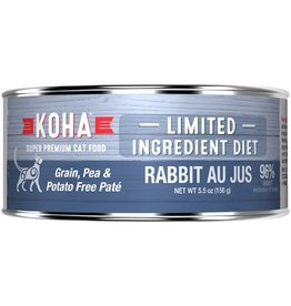 Koha Cat Can 96% Rabbit Au Jus 5.5oz