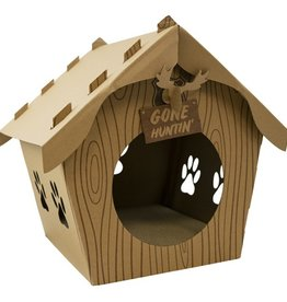 Companion Gear Log Cabin Cat Cardboard Scratcher