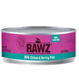 Rawz Cat Can 96% Chicken & Herring 5.5oz
