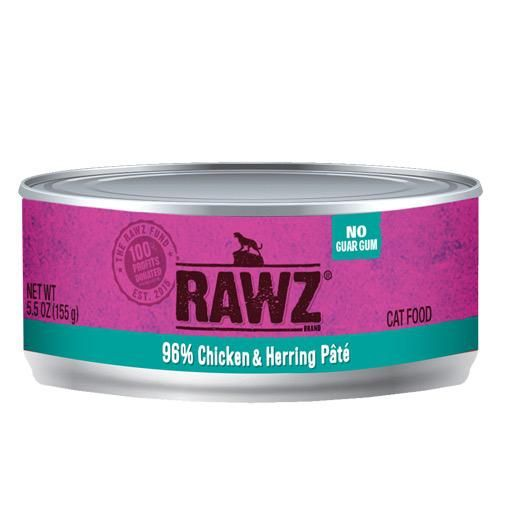 Rawz Cat Can 96% Chicken & Herring 5.5oz