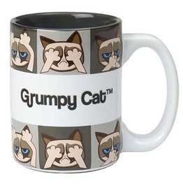 Petrageous Petrageous Grumpy Cat Mug Grey 24oz
