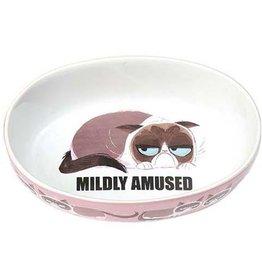 "Petrageous Petrageous Grumpy Mildly Amused Pink 7"" Bowl 2 cups"