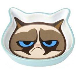 """Petrageous Petrageous Grumpy Cat Face Saucer Blue 5"""""""