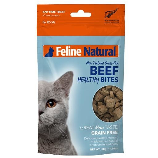 K9 Natural K9 Feline Natural Freeze Dried Healthy Natural Beef Bites 50g