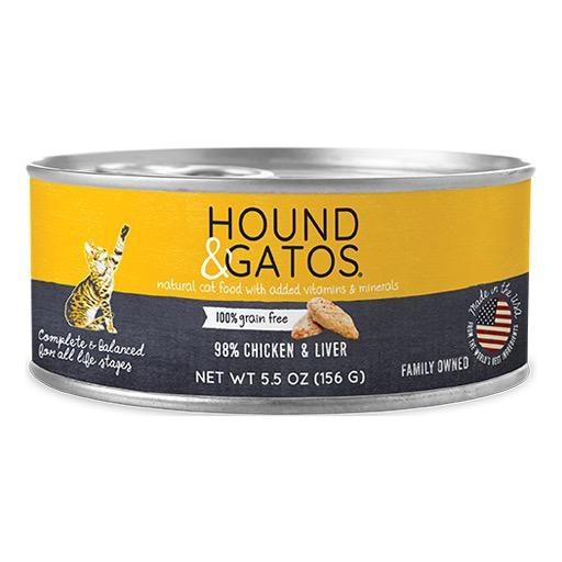 Hound & Gatos Hound & Gatos Cat Can 98% Chicken & Liver 5.5oz