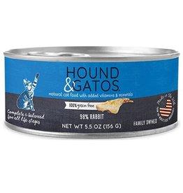 Hound & Gatos Hound & Gatos Cat Can Rabbit 5.5oz