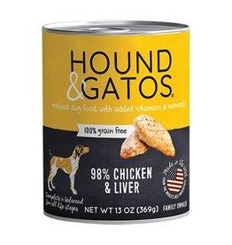 Hound & Gatos Hound & Gatos Dog Can Chicken & Liver 13oz