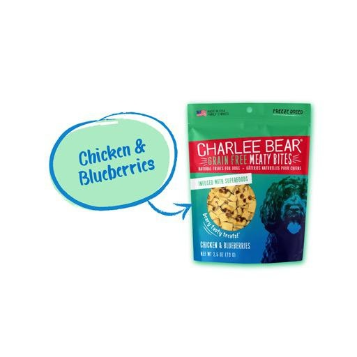 Charlee Bear Charlee Bear Meaty Bites Chicken with Blueberries 2.5oz