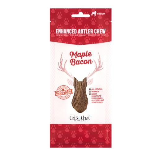 This & That Enhanced Antler Chews Maple Bacon Large