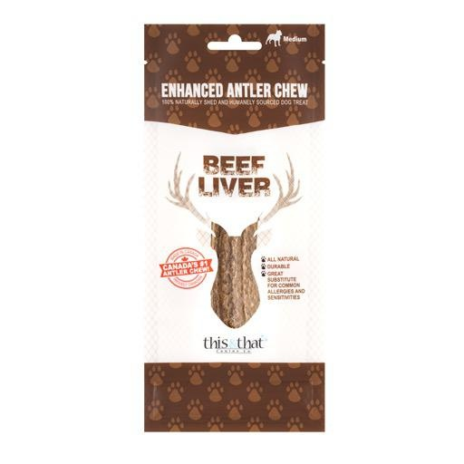 This & That Enhanced Antler Chews Beef Liver XL