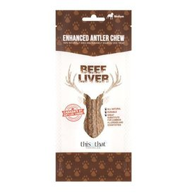 This & That Enhanced Antler Chews Beef Liver Small