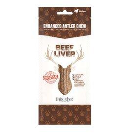 This & That Enhanced Antler Chews Beef Liver Medium