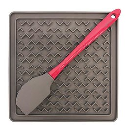 Messy Mutts Messy Mutts Silicone Therapeutic  Feeding Mat with Silicone Spatula