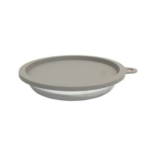 Messy Mutts Messy Mutts Silicone Saucer Shaped Air Tight Lid Grey
