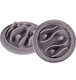 Messy Mutts Messy Mutts Silicone Interactive Feeder Small Grey