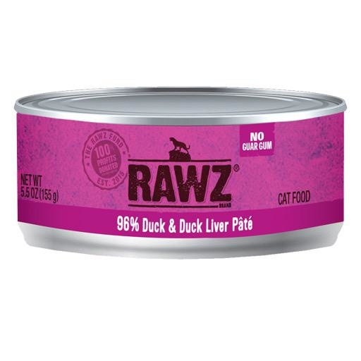 Rawz Cat Can 96% Duck & Duck Liver 5.5oz