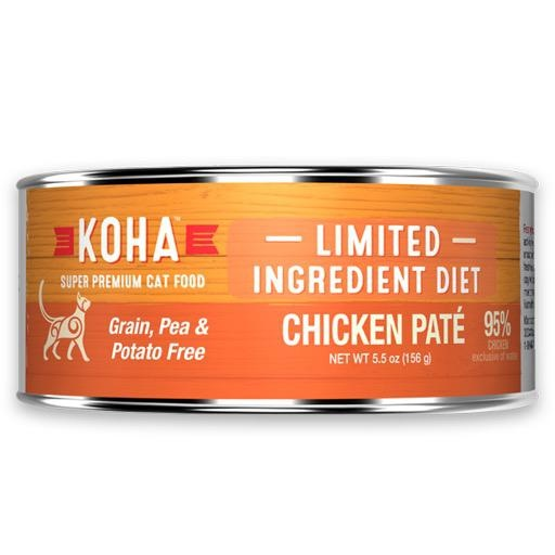 Koha Cat Can 96% Chicken Pate 5.5oz