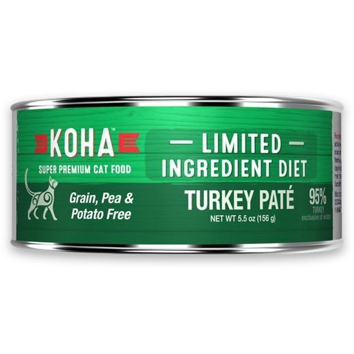 Koha Cat Can 96% Turkey Pate 5.5oz