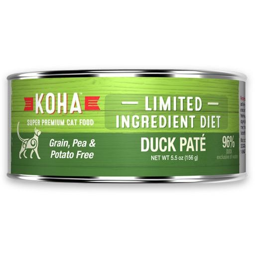 Koha Cat Can 96% Duck Pate 5.5oz