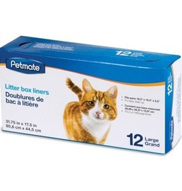 Petmate Litter Pan Liners 12ct Large Clear