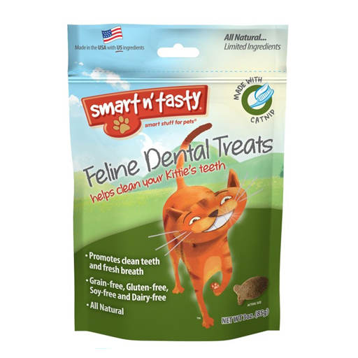 Emerald Pet Products Smart n' Tasty Feline Dental Treat Catnip 3oz
