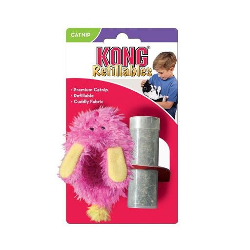 Kong Kong Fuzzy Slippers with Catnip Pink