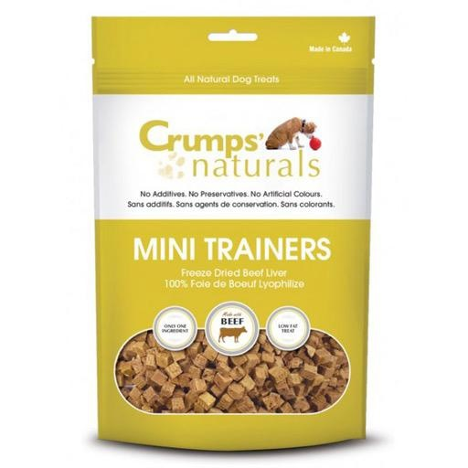 Crumps' Naturals Crumps Naturals Mini Trainers Freeze Dried Beef Liver 105g