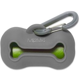 Messy Mutts Messy Mutts Silicone Waste Bag Holder Grey