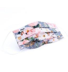 Pilouf Pilouf Protective Reusable Mask Fleurs Gris L