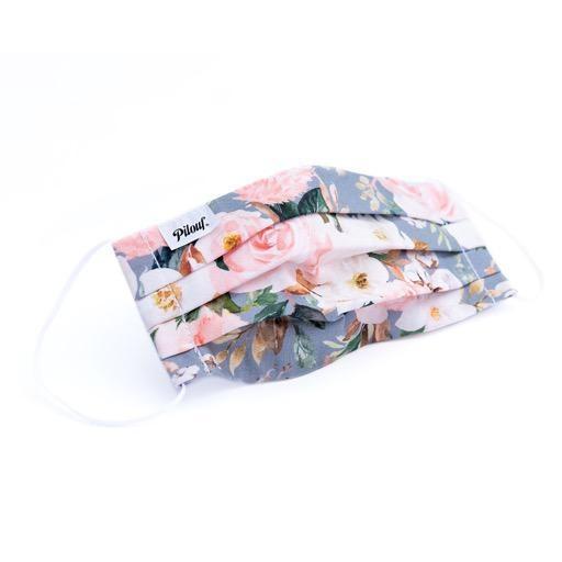 Pilouf Pilouf Protective Reusable Mask Fleurs Gris Large