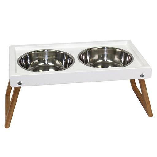 Be One Breed Zen Folding Elevated Dog Bowls Large