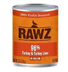 Rawz Dog Can 96% Turkey & Turkey Liver 12oz