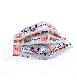 Pilouf Pilouf Protective Reusable Mask Chats Oranges L