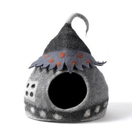 Dharma Dog Karma Cat Dharma Dog Karma Cat Wool Felt Fairy House Grey
