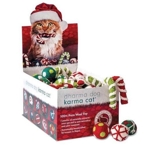 Dharma Dog Karma Cat Dharma Dog Karma Cat Christmas Jingle Balls & Candy Canes