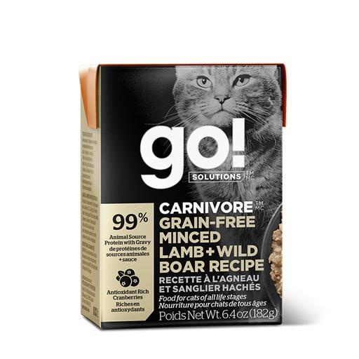 Petcurian GO! Tetra Pak Cat Minced Lamb and Wild Boar 6.4oz