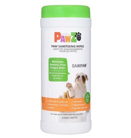 Pawz Sanipaw Daily Paw Sanitizing Wipes 60ct