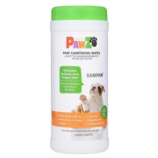 Pawz Sanipaw Daily Paw Sanitizing Wipes 60ct