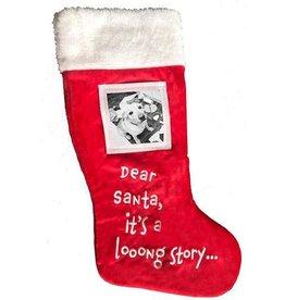 """Huxley & Kent Huxley & Kent Photo Stocking """"Dear Santa, It's a Long Story…"""""""