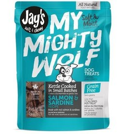 Waggers Jay's My Mighty Wolf Dog Treats Salmon 150g