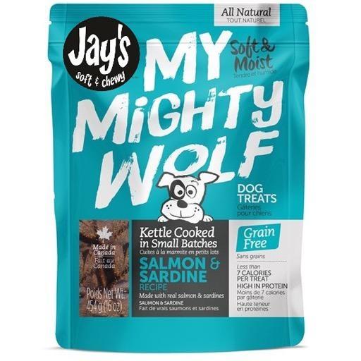 Waggers Jay's My Mighty Wolf Dog Treats Salmon 150g