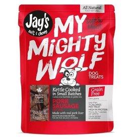 Waggers Jay's My Mighty Wolf Dog Treats Pork 150g