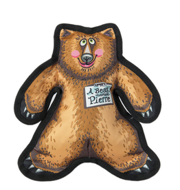 Fuzzu Fuzzu Wild Woodies Pierre the Bear Dog Toy