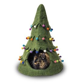 Dharma Dog Karma Cat Dharma Dog Karma Cat Wool Felt Christmas Tree Cave Green