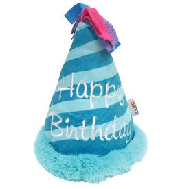 Fou Fou Dog Fou Fou Dog Plush Birthday Crinkle Hat Blue