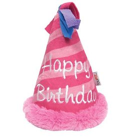 Fou Fou Dog Fou Fou Dog Plush Birthday Crinkle Hat Pink