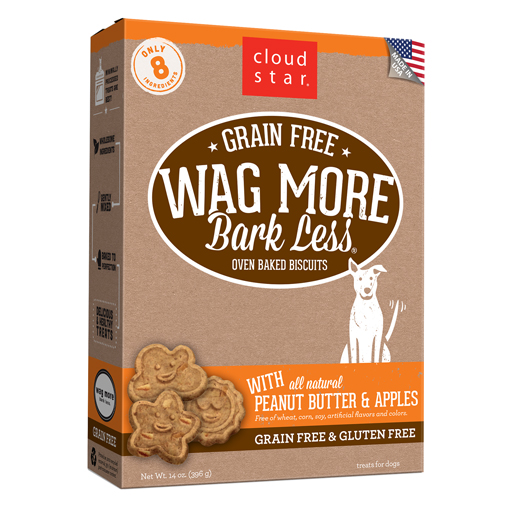 Cloud Star Cloud Star Wag More Bark Less Itty Bitty Biscuits Peanut Butter & Apples 7oz