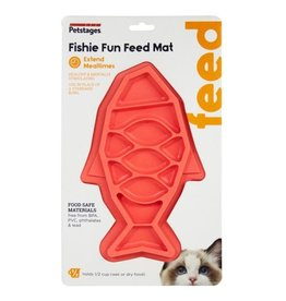 Outward Hound Petstages Fishie Fun Feed Mat Pink