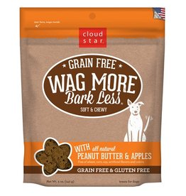 Cloud Star Wag More Bark Less Soft & Chewy Treats Peanut Butter & Apples 5oz
